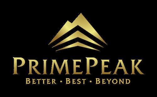 primepeak logo inversed